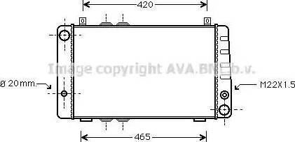 Ava Quality Cooling SA2002 - Radiaator,mootorijahutus multiparts.ee