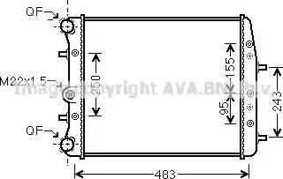 Ava Quality Cooling SAA2005 - Radiaator,mootorijahutus multiparts.ee