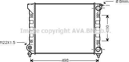 Ava Quality Cooling VNA2040 - Radiaator,mootorijahutus multiparts.ee