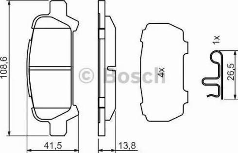 BOSCH 0 986 494 445 - Piduriklotsi komplekt,ketaspidur multiparts.ee