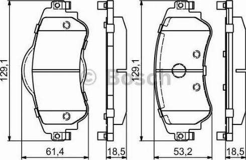 BOSCH 0 986 494 690 - Piduriklotsi komplekt,ketaspidur multiparts.ee