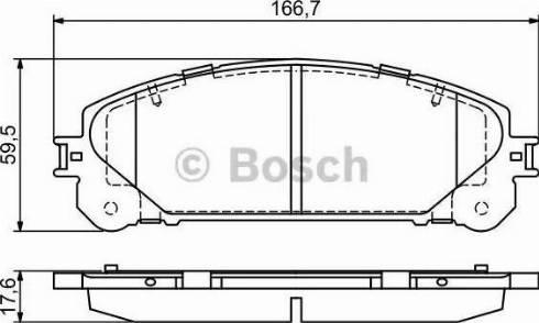 BOSCH 0 986 494 686 - Piduriklotsi komplekt,ketaspidur multiparts.ee