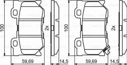 BOSCH 0 986 494 863 - Piduriklotsi komplekt,ketaspidur multiparts.ee