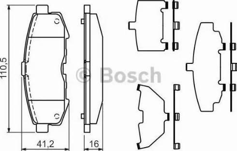 BOSCH 0 986 494 319 - Piduriklotsi komplekt,ketaspidur multiparts.ee