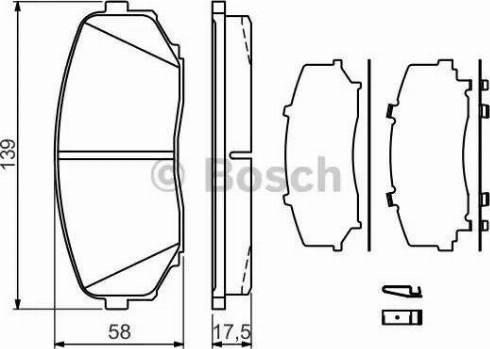 BOSCH 0 986 494 375 - Piduriklotsi komplekt,ketaspidur multiparts.ee