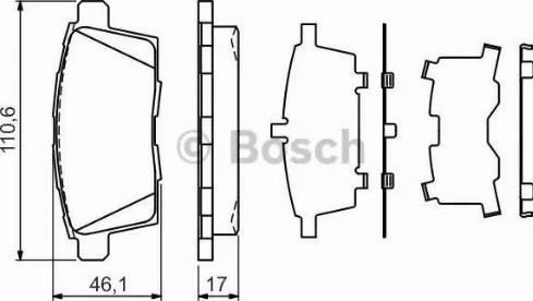 BOSCH 0 986 494 376 - Piduriklotsi komplekt,ketaspidur multiparts.ee