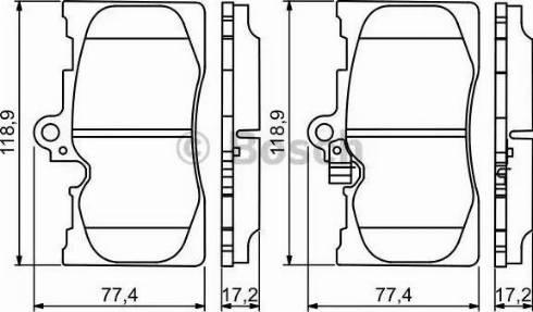 BOSCH 0 986 494 252 - Piduriklotsi komplekt,ketaspidur multiparts.ee