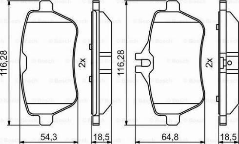 BOSCH 0 986 494 790 - Piduriklotsi komplekt,ketaspidur multiparts.ee