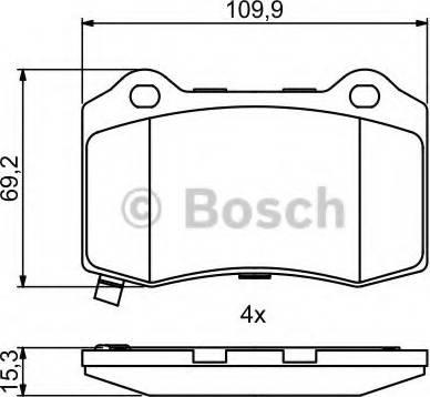 BOSCH 0 986 494 708 - Piduriklotsi komplekt,ketaspidur multiparts.ee