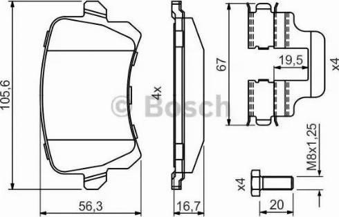 BOSCH 0 986 494 731 - Piduriklotsi komplekt,ketaspidur multiparts.ee