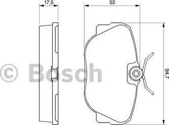 BOSCH 0 986 491 730 - Piduriklotsi komplekt,ketaspidur multiparts.ee
