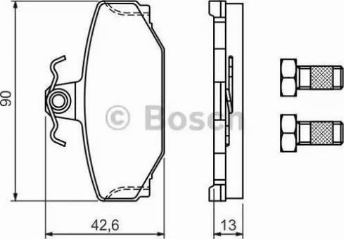 BOSCH 0 986 460 995 - Piduriklotsi komplekt,ketaspidur multiparts.ee