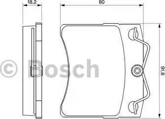 BOSCH 0 986 460 954 - Piduriklotsi komplekt,ketaspidur multiparts.ee