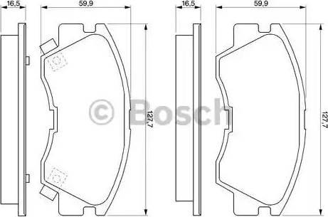 BOSCH 0 986 460 978 - Piduriklotsi komplekt,ketaspidur multiparts.ee