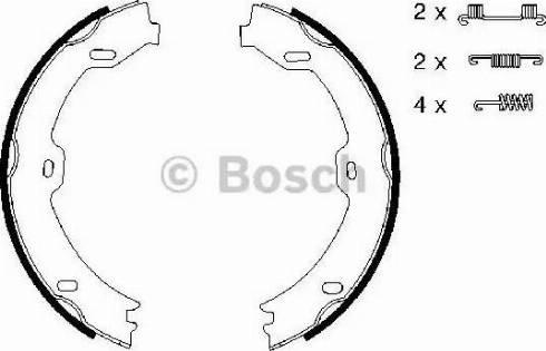 BOSCH 0 986 487 666 - Piduriklotside komplekt,seisupidur multiparts.ee