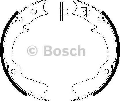 BOSCH 0 986 487 681 - Piduriklotside komplekt,seisupidur multiparts.ee