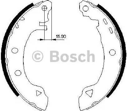 BOSCH 0 986 487 295 - Piduriklotside komplekt multiparts.ee