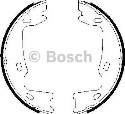 BOSCH 0 986 487 214 - Piduriklotside komplekt,seisupidur multiparts.ee