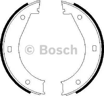 BOSCH 0 986 487 211 - Piduriklotside komplekt,seisupidur multiparts.ee