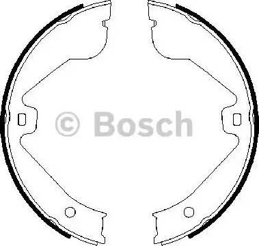 BOSCH 0 986 487 705 - Piduriklotside komplekt,seisupidur multiparts.ee