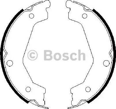 BOSCH 0 986 487 708 - Piduriklotside komplekt,seisupidur multiparts.ee