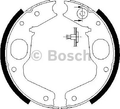 BOSCH 0 986 487 719 - Piduriklotside komplekt,seisupidur multiparts.ee