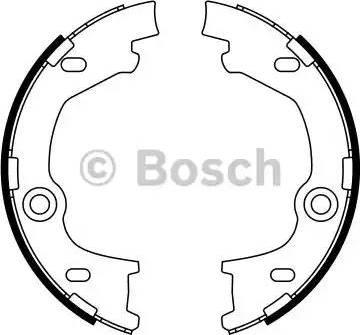 BOSCH 0 986 487 777 - Piduriklotside komplekt,seisupidur multiparts.ee
