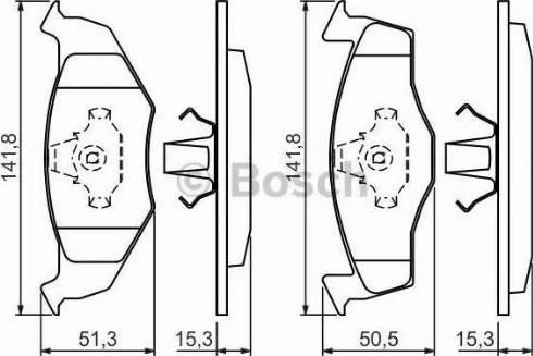 BOSCH 0 986 424 449 - Piduriklotsi komplekt,ketaspidur multiparts.ee