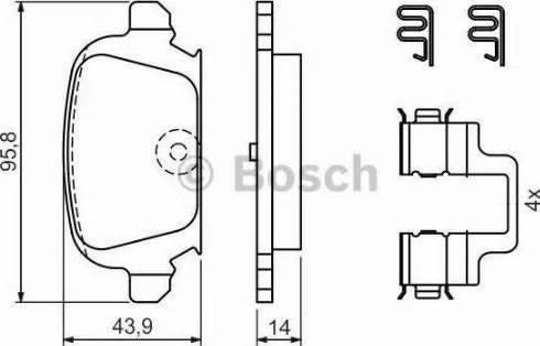 BOSCH 0 986 424 528 - Piduriklotsi komplekt,ketaspidur multiparts.ee