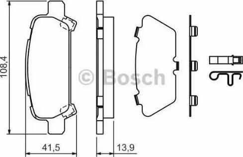 BOSCH 0 986 424 650 - Piduriklotsi komplekt,ketaspidur multiparts.ee