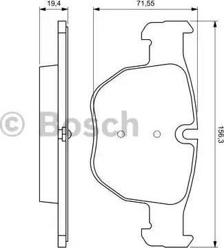 BOSCH 0 986 424 687 - Piduriklotsi komplekt,ketaspidur multiparts.ee