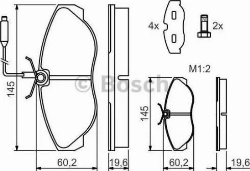 BOSCH 0 986 424 030 - Piduriklotsi komplekt,ketaspidur multiparts.ee