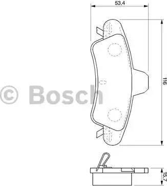 BOSCH 0 986 424 744 - Piduriklotsi komplekt,ketaspidur multiparts.ee
