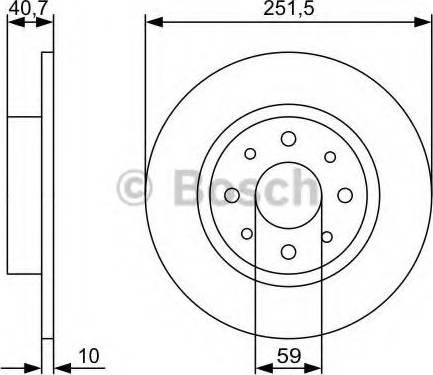 BOSCH 0 986 479 C83 - Piduriketas multiparts.ee