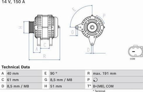 BOSCH 0 986 085 020 - Generaator multiparts.ee