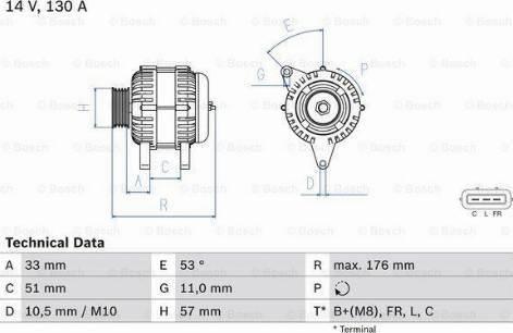 BOSCH 0 986 083 830 - Generaator multiparts.ee