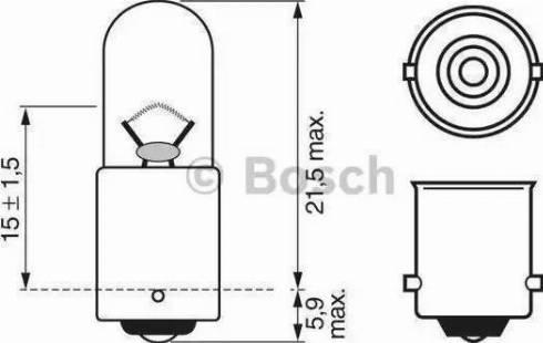 BOSCH 1 987 302 207 - Hõõgpirn, parkimis-/positsioonituli multiparts.ee