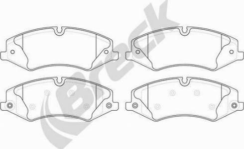 Breck 25022 00 553 00 - Piduriklotsi komplekt,ketaspidur multiparts.ee