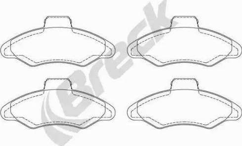 Breck 21171 00 702 00 - Piduriklotsi komplekt,ketaspidur multiparts.ee