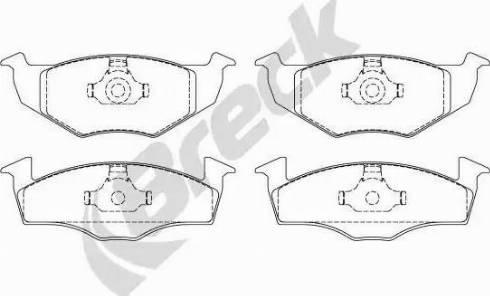 Breck 21866 00 702 00 - Piduriklotsi komplekt,ketaspidur multiparts.ee