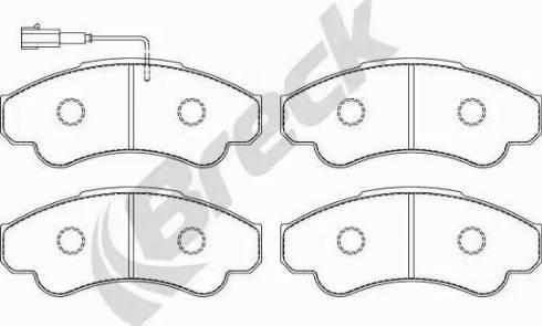 Breck 23919 00 703 10 - Piduriklotsi komplekt,ketaspidur multiparts.ee