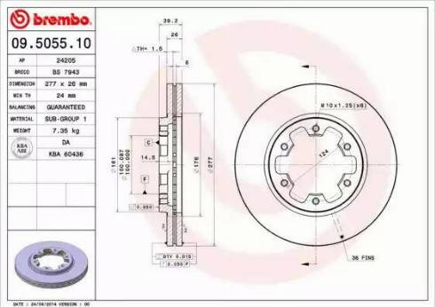 Brembo 09.5055.10 - Piduriketas multiparts.ee