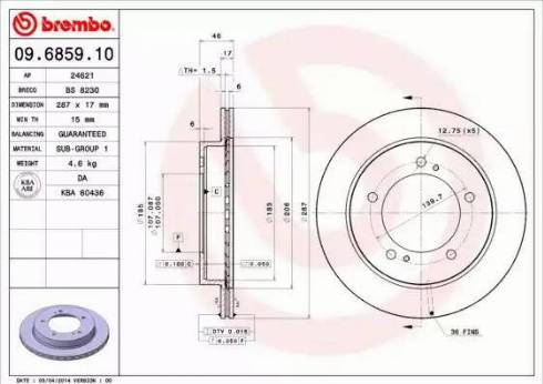 Brembo 09.6859.10 - Piduriketas multiparts.ee