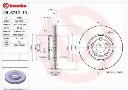 Brembo 09.6742.10 - Piduriketas multiparts.ee