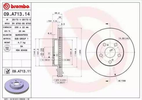 Brembo 09.A713.11 - Piduriketas multiparts.ee