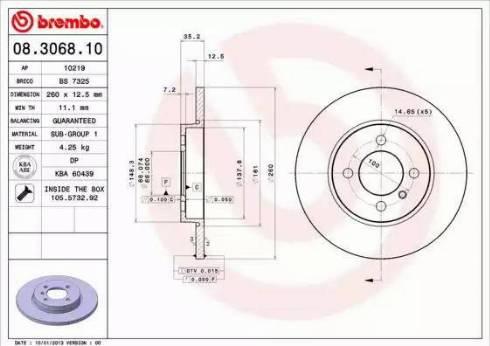 Brembo 08.3068.10 - Piduriketas multiparts.ee