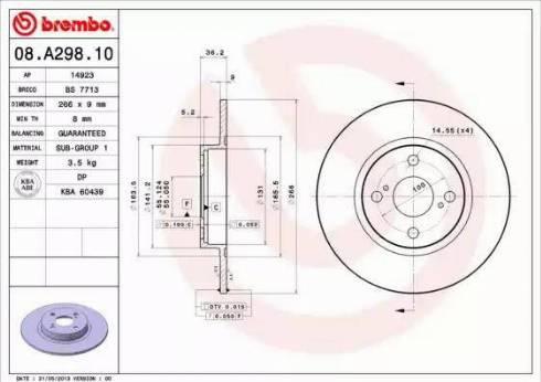 Brembo 08.A298.10 - Piduriketas multiparts.ee