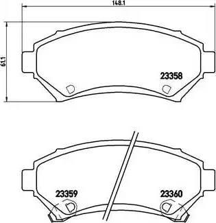 Brembo P 59 028 - Piduriklotsi komplekt,ketaspidur multiparts.ee