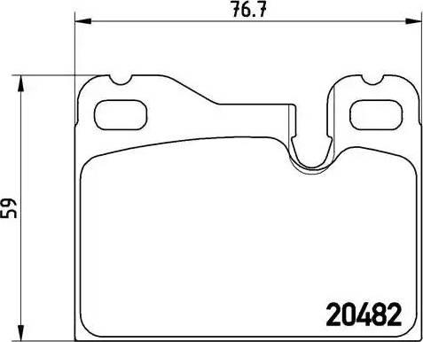 Brembo P 65 003 - Piduriklotsi komplekt,ketaspidur multiparts.ee