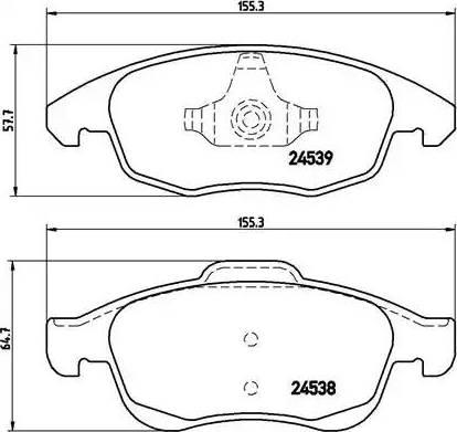 Brembo P 61 083 - Piduriklotsi komplekt,ketaspidur multiparts.ee